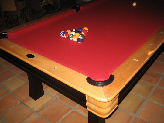 So Cal Pool Tables Santa Fe Pool Table - Red top pool table