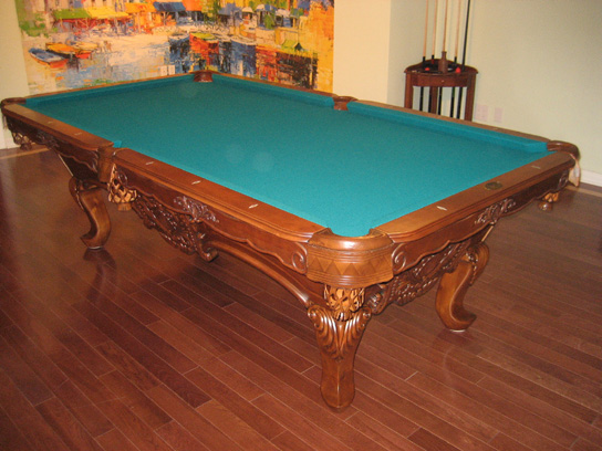 So cal pool tables winston pool table - Pool table green felt ...