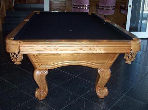 Balboa Medium Oak Pool Table Additional Images. Black Felt. Dark Green Felt