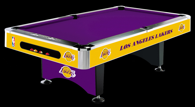 So Cal Pool Tables NBA LAKERS Pool Table - Pool table scorekeeper