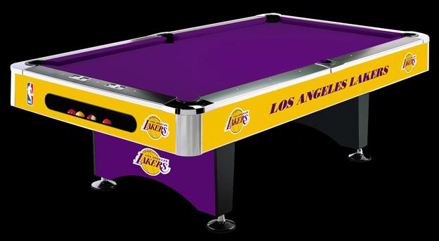 So Cal Pool Tables NBA LAKERS Pool Table - Pool table scorekeeper