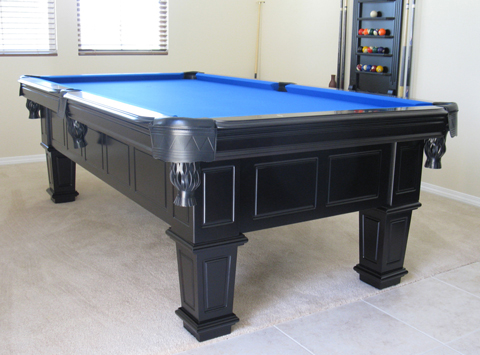So Cal Pool Tables Gulf Black Pool Table - Black pool table with blue felt