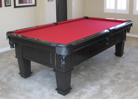 Charmant Gulf Black Pool Table Additional Pictures. Red Felt. Camel Felt
