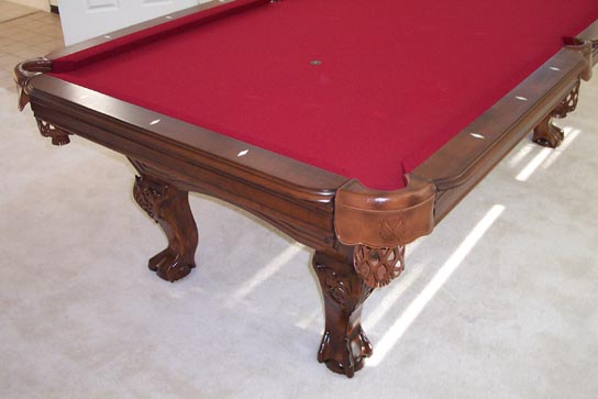 So cal pool tables heritage teak pool table - Pool table green felt ...