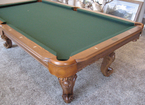 So cal pool tables victorian pool table - Pool table green felt ...