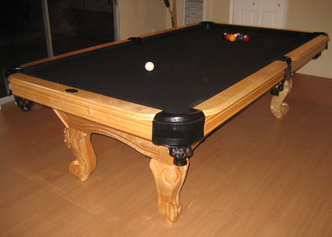 Waverly Natural Pool Table Additional Pictures. Black Felt