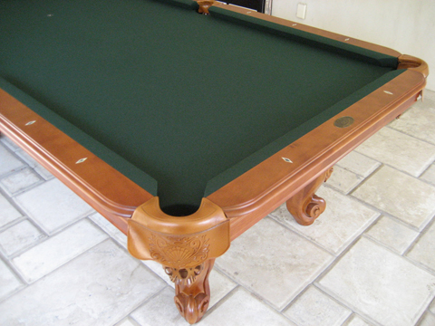 So cal pool tables waverly pool table - Pool table green felt ...